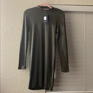Olive High neck dress